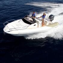 Outboard inflatable boat / semi-rigid / center console / sport