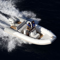 Outboard inflatable boat / RIB / side console / sport