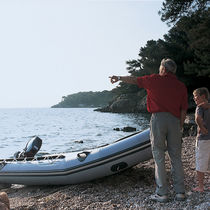 Outboard inflatable boat / foldable / for fishing / 7-person max.