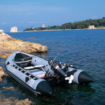 Outboard inflatable boat / foldable / for fishing / 6-person max.