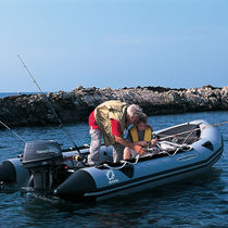 Outboard inflatable boat / foldable / for fishing / aluminum