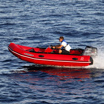 Outboard inflatable boat / foldable / side console / sport