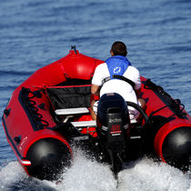Outboard inflatable boat / foldable / side console / aluminum