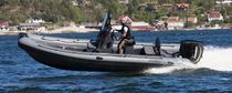 Outboard inflatable boat / RIB / center console / with T-top