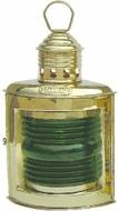 Lámpa réz petróleumos zöld