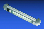Lámpa belső eloxált alu, 9 LED
