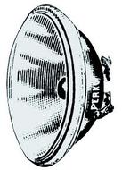 Izzó 12V kerek 100W, 110mm