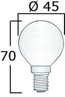 Izzó 12V gömb 40W  1 pólusú
