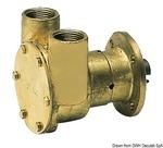 Vízpumpa bronz 12V 3/4 csatl.