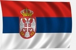 Zászló szerb 60x100 kötős
