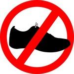 Matrica 'cipővel ne'