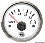 Voltmérő 20-32V fehér+kr.