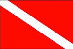 Zászló búvár 30x45