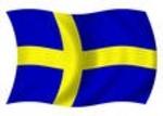 Zászló svéd 30x45 kötős