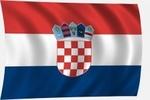 Zászló horvát 100x60 kötős