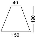 Lepedő háromszög,190x40x150 cm