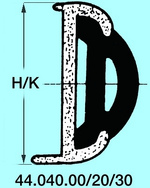 Profil gumi 40es sínbe fekete