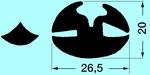 Profil szélvédőre PVC fekete