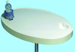 Asztallap fehér ovál 77x51cm