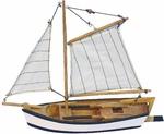 Hajómodell halászhajó fa 23cm