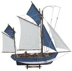 Hajómodell vitorlás 64cm