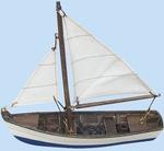 Hajómodell halászhajó 14,5cm
