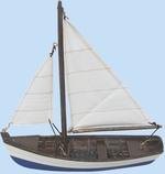 Hajómodell halászhajó 20cm