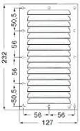 Szellőzőrács rm. 127x232mm