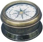 Kompasz antikolt réz, talpas