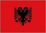 Zászló albán 30x45 kötős