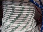 Kötél 12es schott fehér/zöld