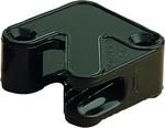 Clam 4-6mm műanyag fekete Mini