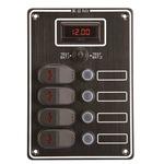 Kapcsolótábla 4k+dig. voltmérő