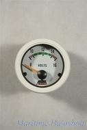 Voltmérő 8-16V fehér, 12V-os
