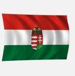 Zászló magyar 100x60 címeres