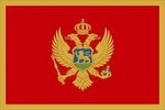 Zászló montenegro 20x30