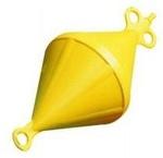 Bója kúp sárga 2-fülű kemény