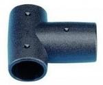 Korlát T-elem műa.22mm fekete