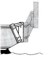 Motortartó szögállító közdarab