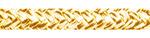 Kötél 10es fall sárga/fehér