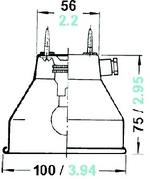 Decklámpa Rostock 12V 8W