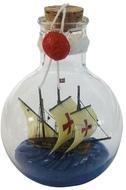 Hajó üvegben, kerek