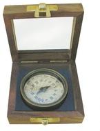 Kompasz napórával antikolt réz