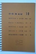 Térkép Donau Band10 Borc.-Arm