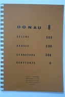 Térkép Donau Band8 Bel. - Kons