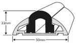 Profil alusín 604 tip.365cm